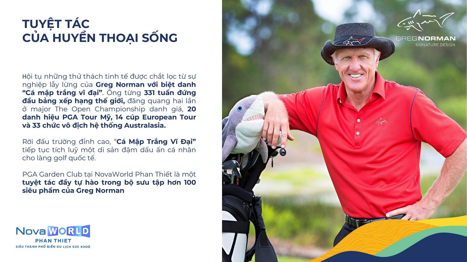Huyền thoại Golf Greg Norman