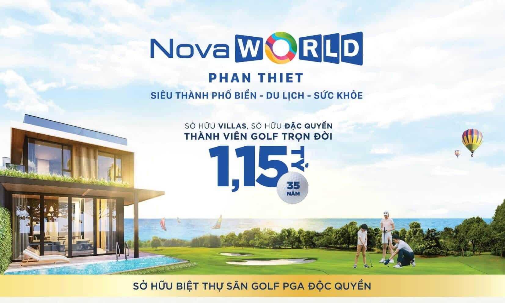 Ưu đãi thẻ member 35 năm sử dụng sân Golf NovaWorld miễn phí