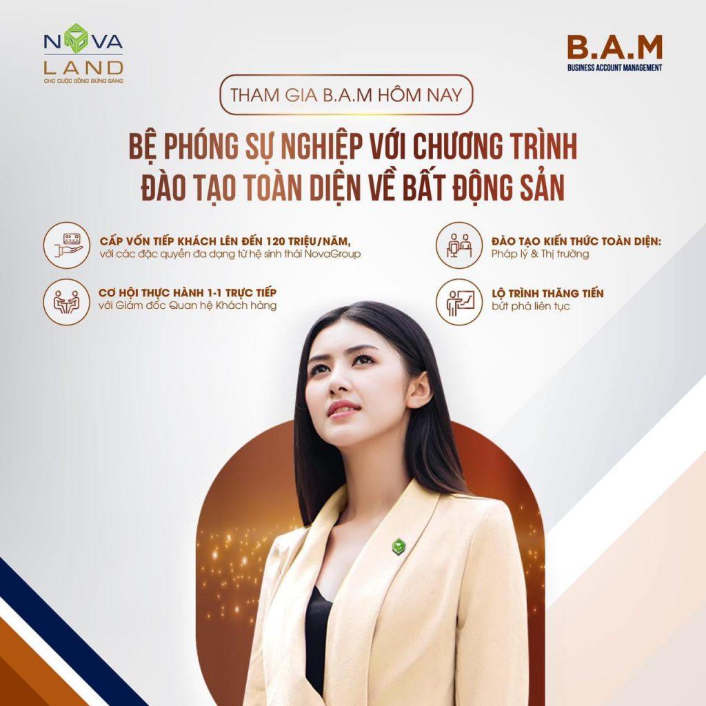 novaland tuyển dụng BAM chuyên viên tư vấn bds